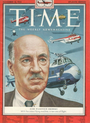 1953, November 16. AA. Time Magazine Cover Page with Igor Ivanovich Sikorsky image.